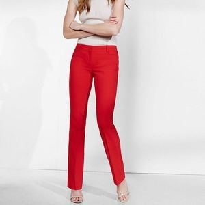 EXPRESS Red Lacquer Barely Boot Columnist Pant